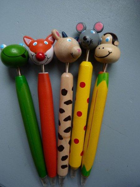 jeder Teilnehmer erhielt einen Tierkugelschreiber
