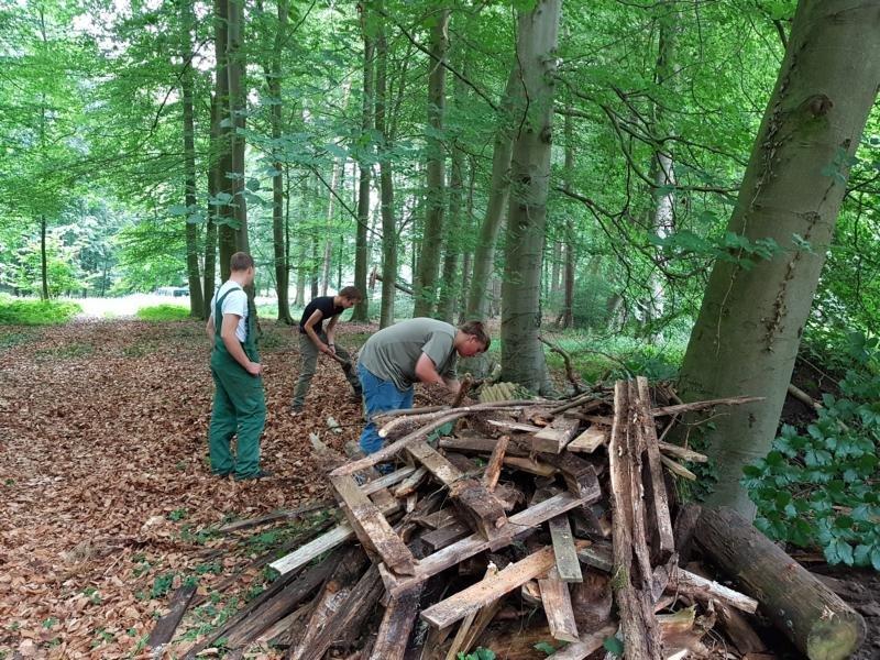 23 Brennholz für die kommenden Projekttage